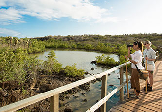 Boardwalk to Finch Bay Galapagos Hotel