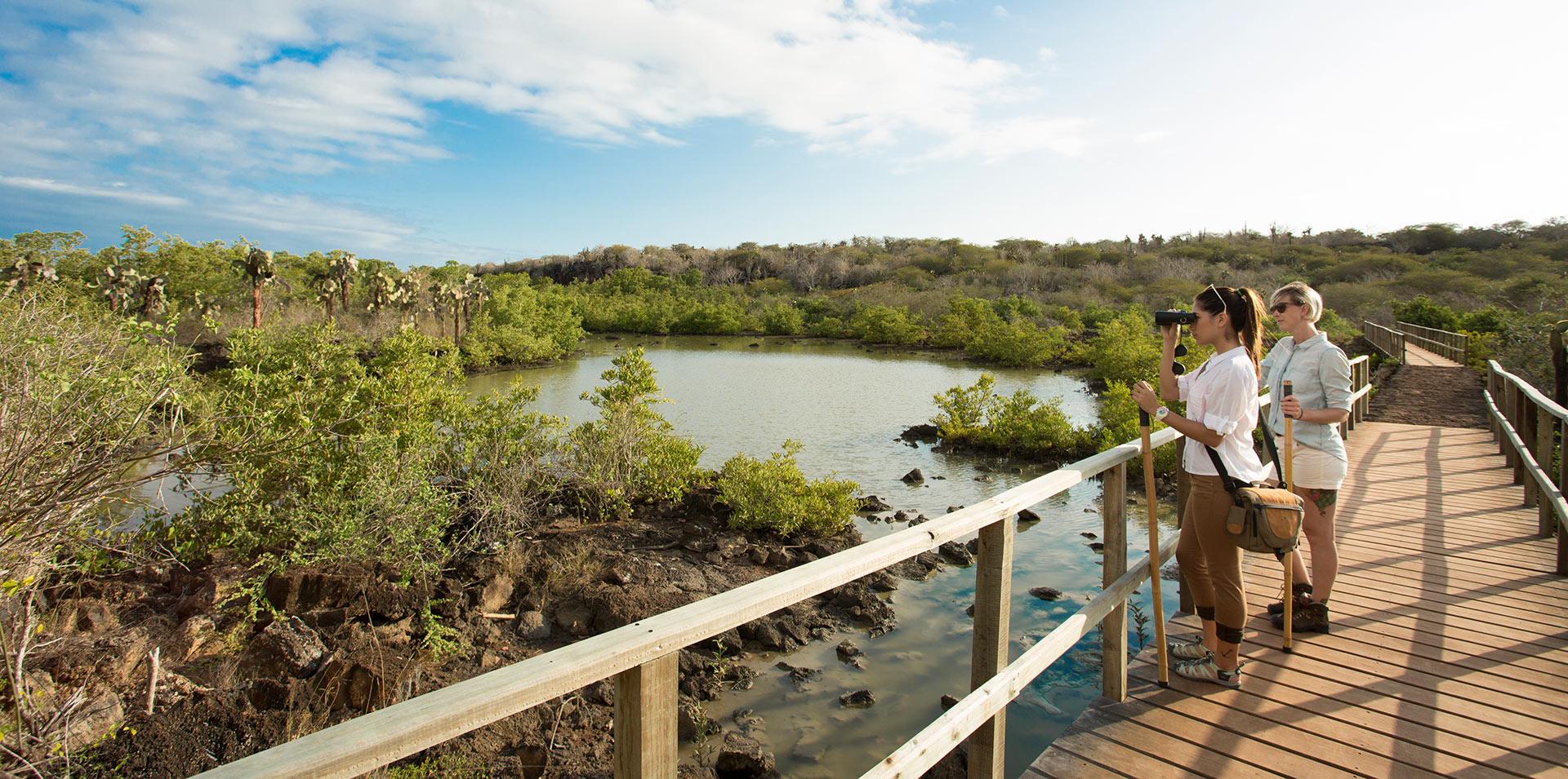 Boardwalk to Finch Bay Galapagos Hotel