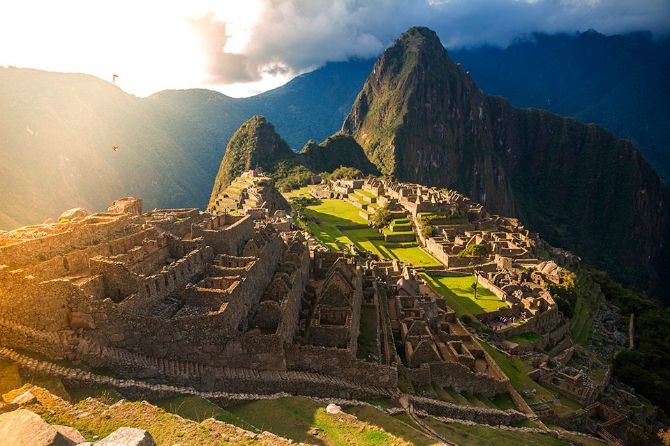 Machu Picchu, en Perú, al atardecer