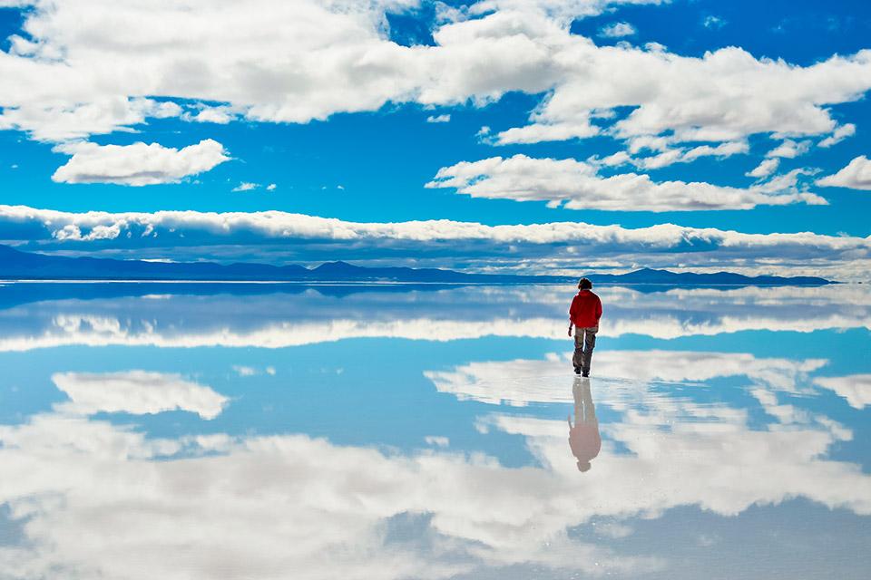Salar del Uyuni en Bolivia, Sudamérica