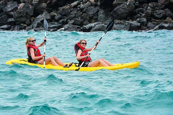 Galapagos cruise activities: kayaking