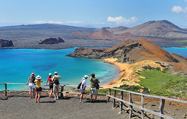 View fom the highest point of Bartolome Island