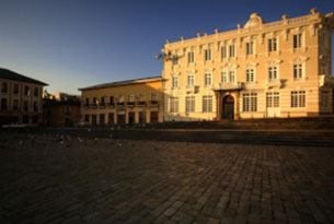 Casa Gangotena at dawn