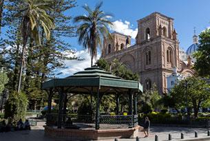 Main Plaza in Cuenca, Ecuador