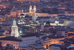 Overview of Quito, Ecuador
