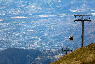 Quito's Teleferico Gondola Lift in Ecuador
