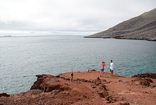 Isla Rábida en Galápagos, Ecuador