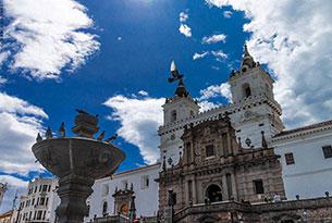 Iglesia de San Francisco en Quito, Ecuador