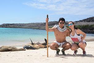 Santa Fe Island in the Galapagos