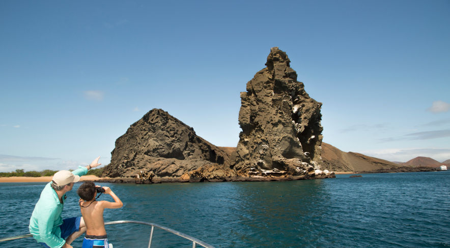 Exploring the Galapagos National Park: Colossal Pinnacle Rock at Bartolome Island