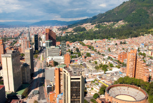 Bogota City from above