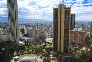 Urban center of Bogota, Colombia