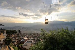 Gondola lift in Medellin, Colombia