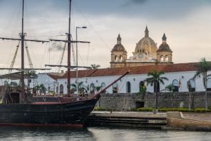 Cartagena Boardwalk and Ship