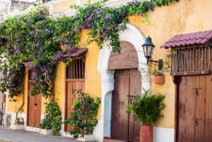 Cartagena streets and doorways