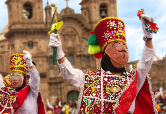 Traditional dance in Cuzco, Peru