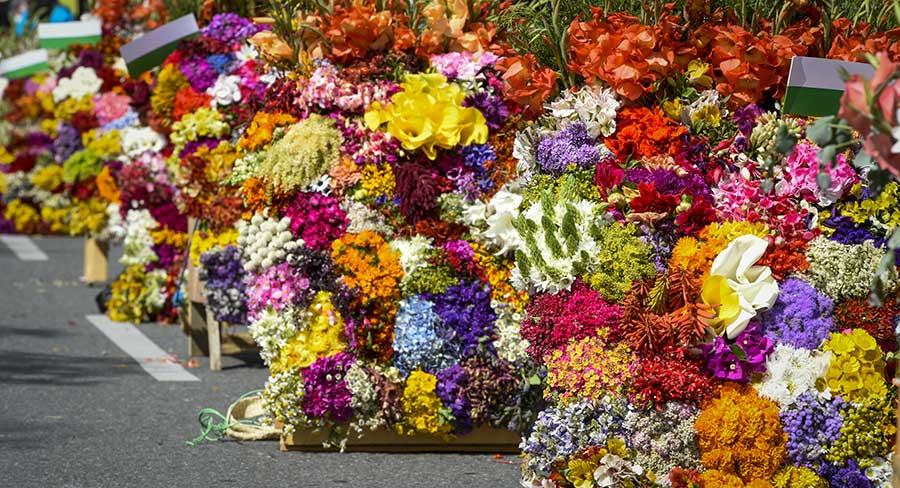 Flower festival in Medellin, Colombia