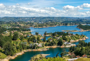 View from the Rock of Guatape Viewpoint