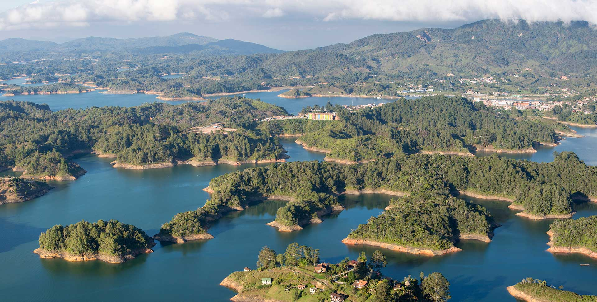 Islands and Lake in Guatape, Colombia