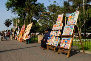 Lima artist street in Peru