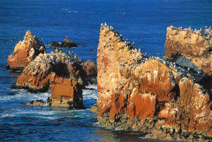 Cliffs and rocks in Paracas, Peru