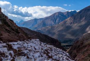 Sacred valley mountain views in Peru
