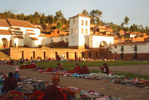 Sacred Valley Plaza in Peru