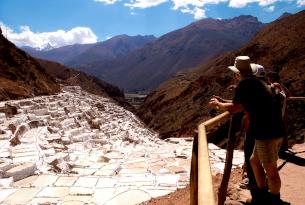 Saltpans in the Sacred Valley, Peru