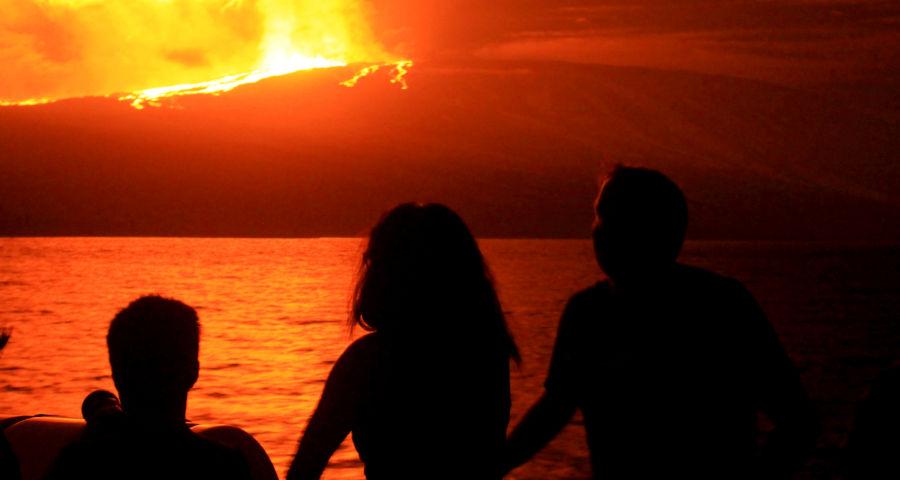 Sierra Negra Volcanic Eruption
