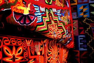 Textiles at Pisac Market, Peru