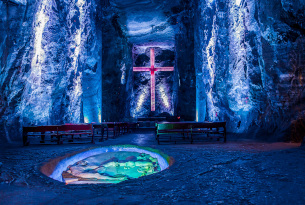 Zipaquira Salt Cathedral in Colombia