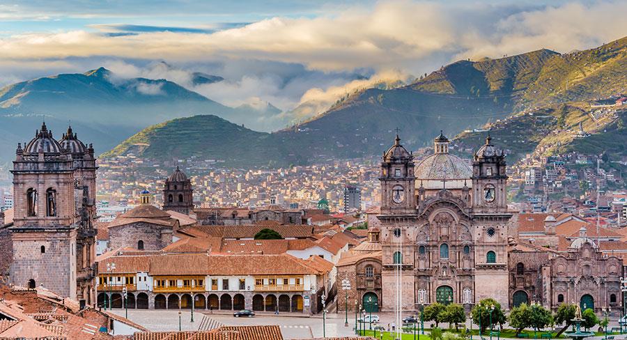 Cuzco City Skyline in Peru