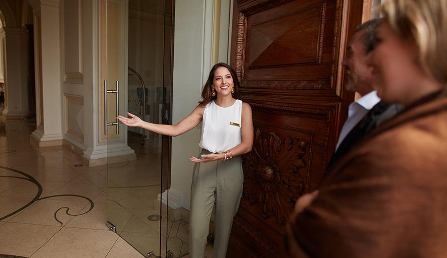 Casa Gangotena Boutique Hotel's concierge greeting guests