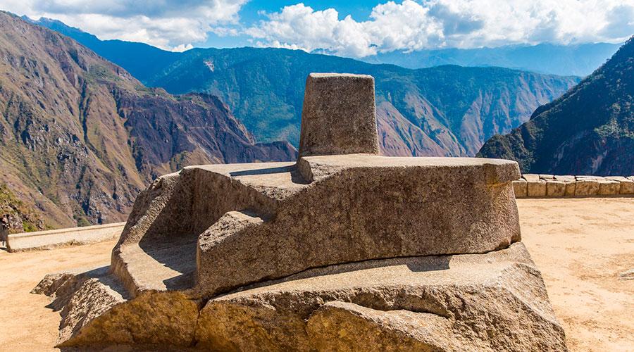 Intihuatana Pyramid in Machu Picchu