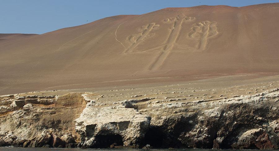 Geoglyph in Paracas, Peru.