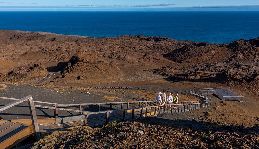 Trekking at Bartolome Island, Galapagos