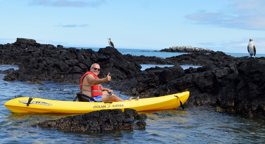 Making new friends in the Galapagos