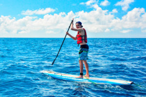 Paddleboarding in the Galapagos Islands