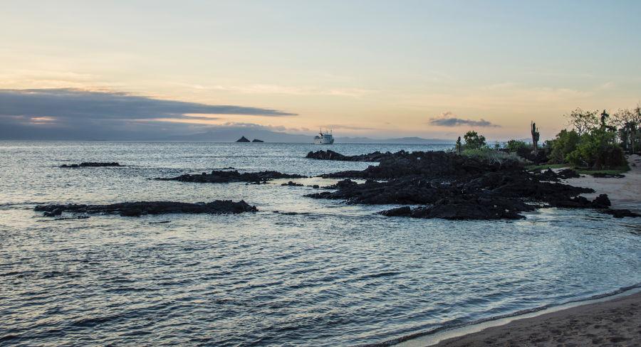 Galapagos coastline view