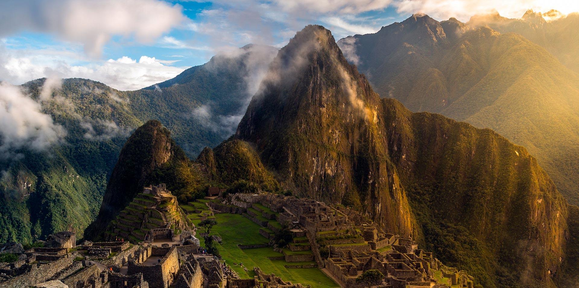 Paisaje en la mañana de Machu Picchu