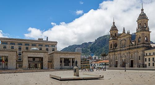 Bogota's Bolivar Plaza in Colombia