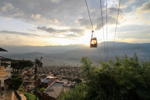 Cable car in Medellin, Colombia