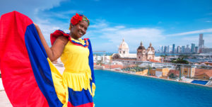 Traditional outfit in Cartagena, Colombia