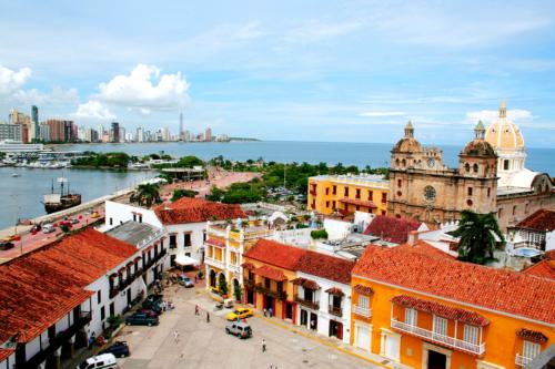 Shoreline in Cartagena