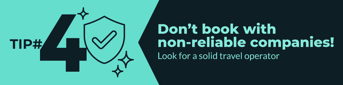 Don't book with non-reliable companies! coronavirus tip 4 travel and coronavirus
