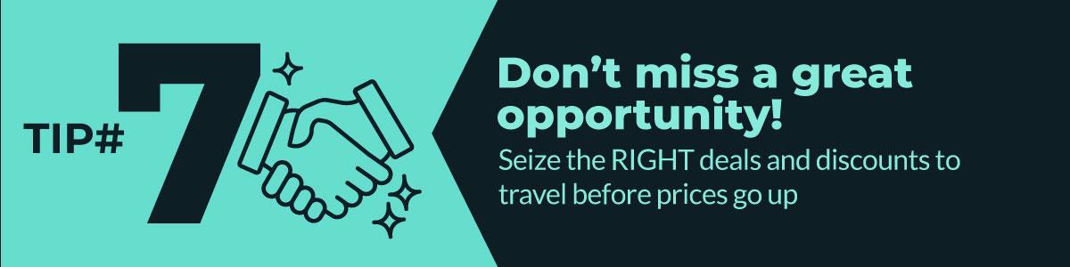 Don't miss a great opportunity! coronavirus tip 7 travel and coronavirus
