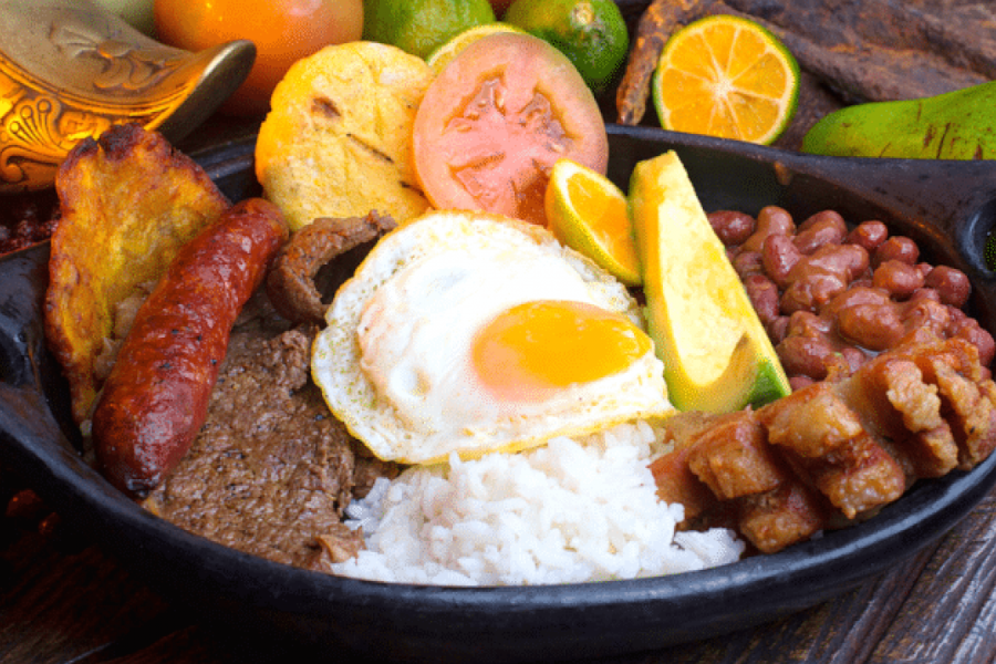 Bandeja Paisa, a Colombian delicacy