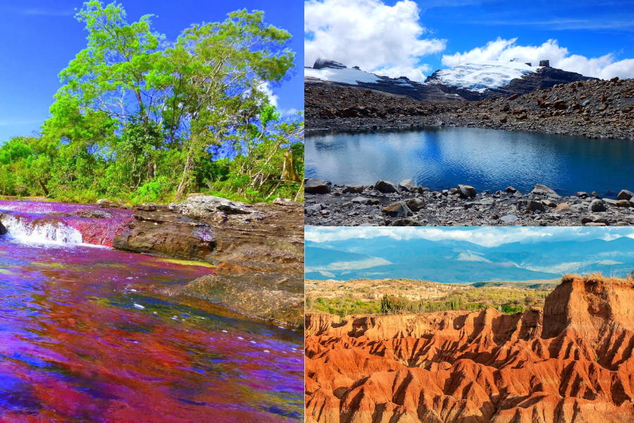 Some of Colombia's vast regions